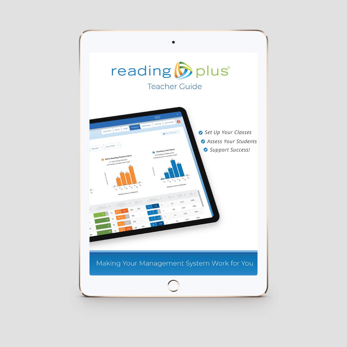 2019 Reading Plus Teacher Guide - Publication Design