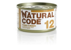Natural Code 12 Tonno e Manzo• 0,85g