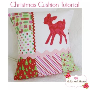 Make a Simple Scrappy Christmas Cushion Cover