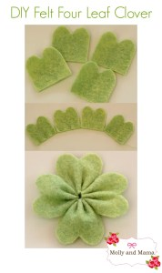 Make a Felt Four Leaf Clover or Shamrock