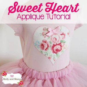 Create a Love Heart Appliqué for Valentine's Day