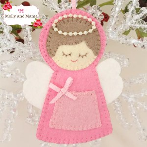 Stitch a Felt Angel Christmas Ornament