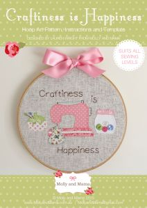 Introducing the 'Craftiness is Happiness' Hoop Art Pattern