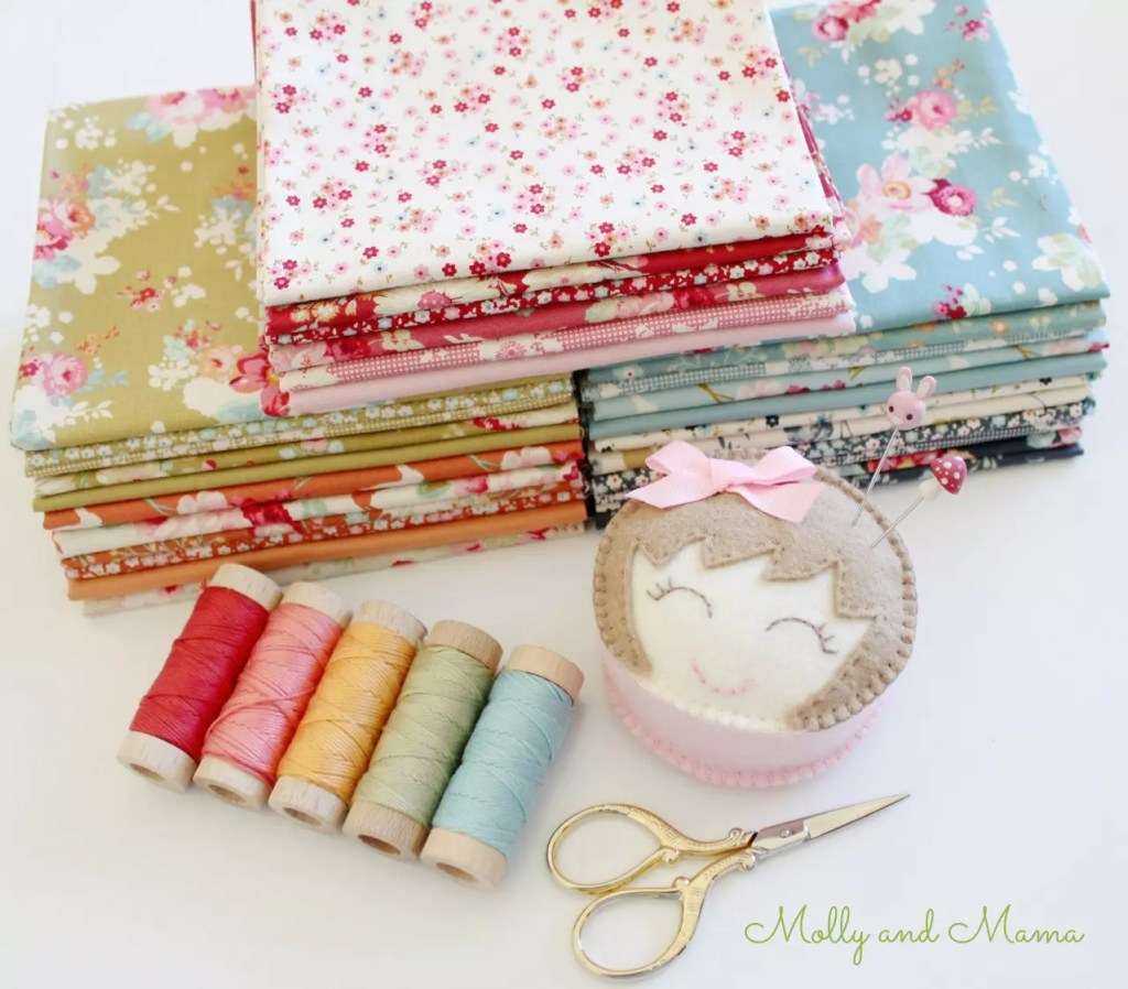 Cabbage Rose and Memory Lane fabric from Tilda