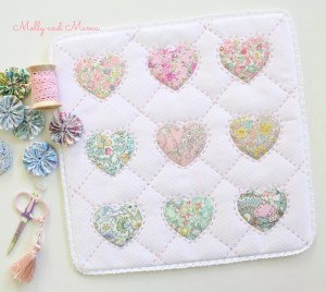 Hearts of Friendship Mini Quilt