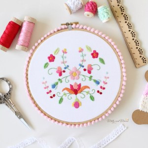 How to Finish an Embroidery Hoop for Wall Hanging