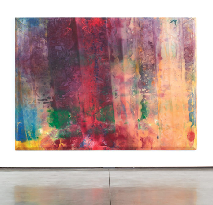 """Rose Rising,"" 1968, Sam Gilliam, acrylic on canvas, 97″ x 132″ x 37⁄8″ Photo: courtesy David Kordansky Gallery"