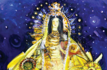"Flora Fong, ""Virgen de la Caridad,"" 2014, Oil on canvas Flora Fong, ""Virgen de la Caridad,"" 2014,"