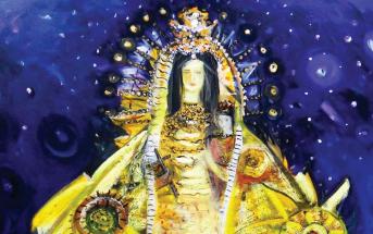 "Flora Fong, ""Virgen de la Caridad,"" 2014, Oil on canvas Flora Fong, ""Virgen de la Caridad,"" 2014,"