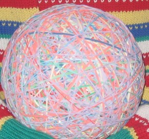 Rubber Band Ball courtesy X-Chromo