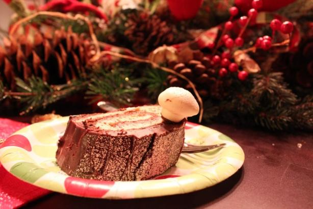 Bouche de Noel cake slice
