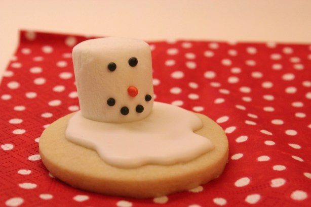 Melting Snowmen Sugar Cookie