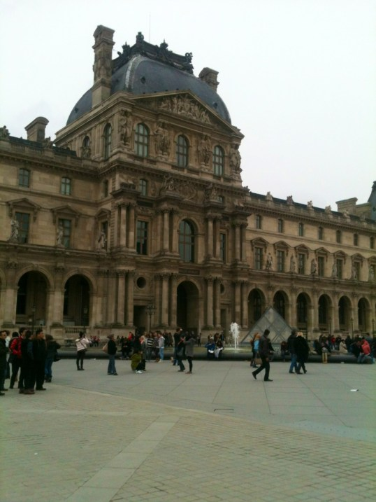 Outside of Louvre 3-21-13