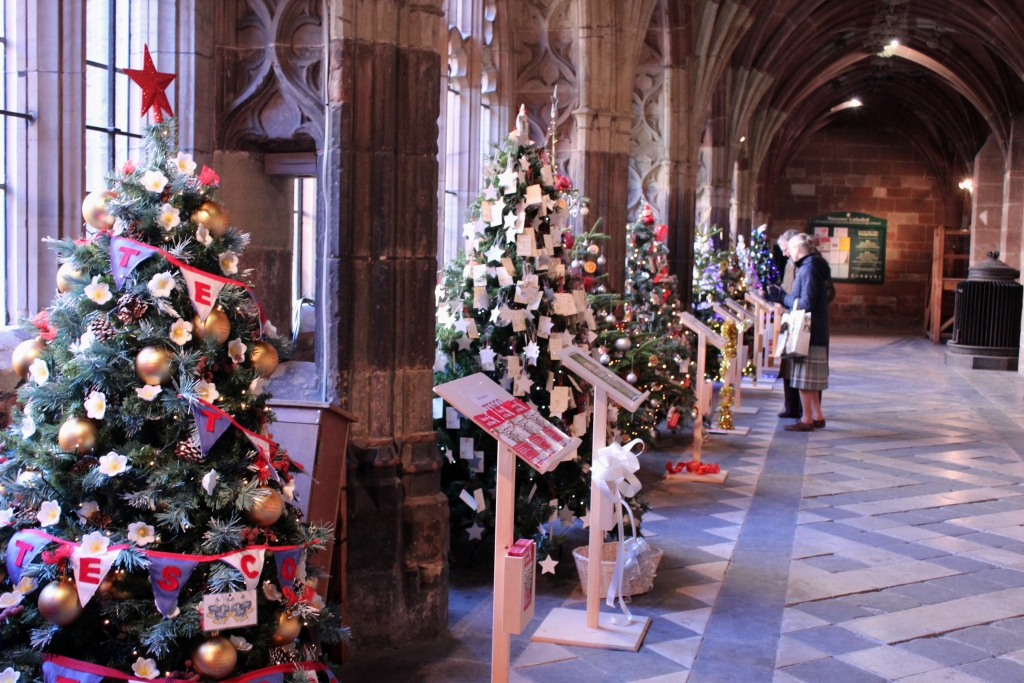Worcester-Cathedral Christmas Trees