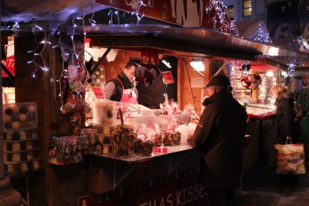brussels christmas market stand