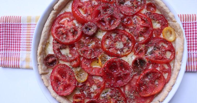 Tarte au Cantal et aux Tomates