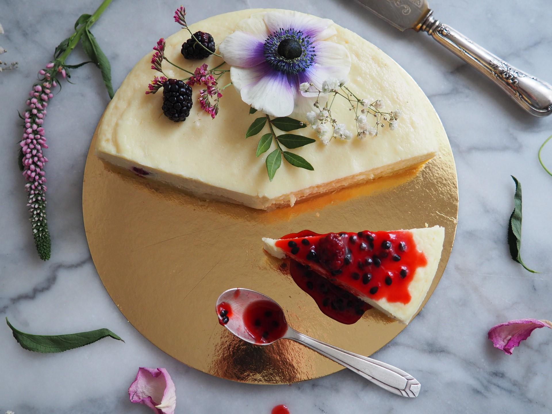 Blackberry & Passionfruit Cheesecake