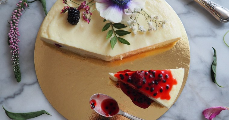 Blackberry & Passionfruit Cheesecake