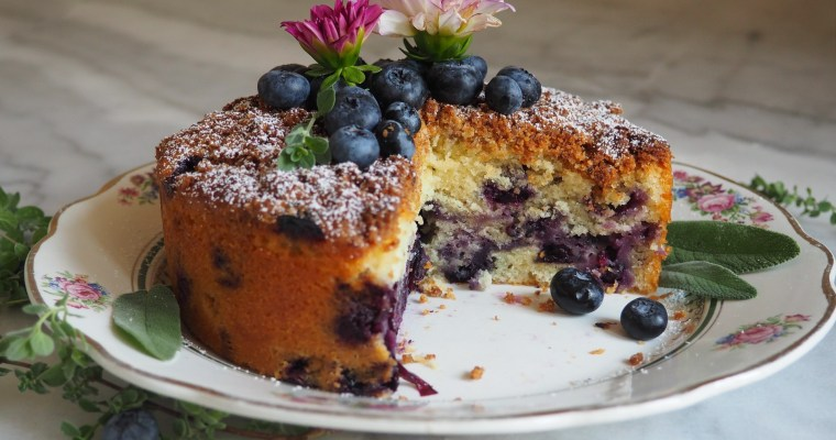 Coconut Blueberry Tea Cake