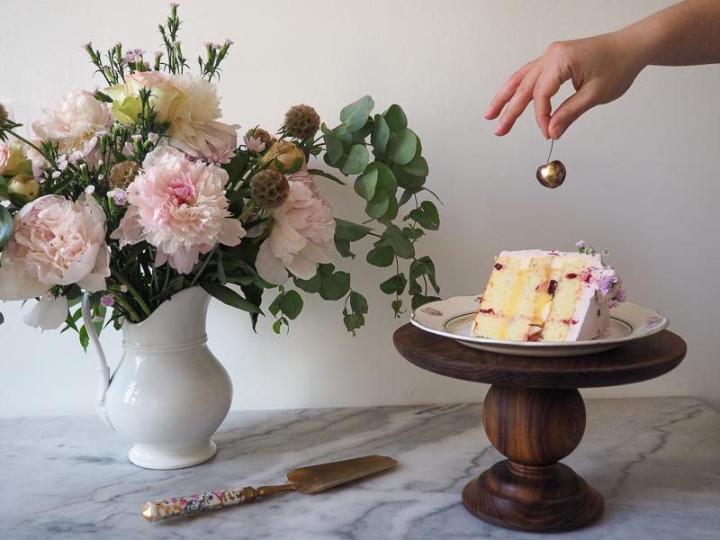 Lavender Lemon Cherry Cake