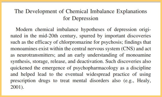How Was the Chemical Imbalance Theory Developed?
