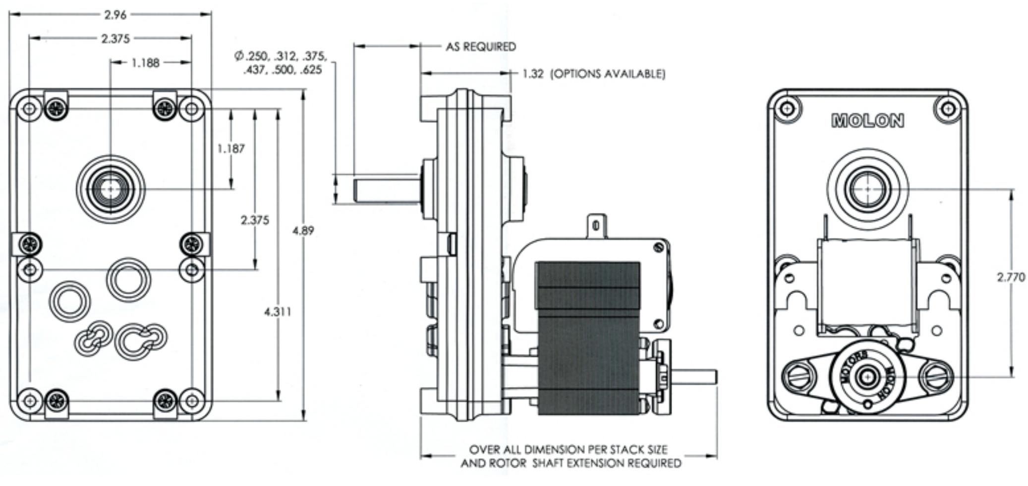 Ac Shaded Pole Motors Gearmotors Hdzem