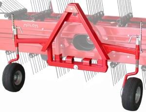 Triangle accord avec attelage pendulaire et 2 roues d'appui