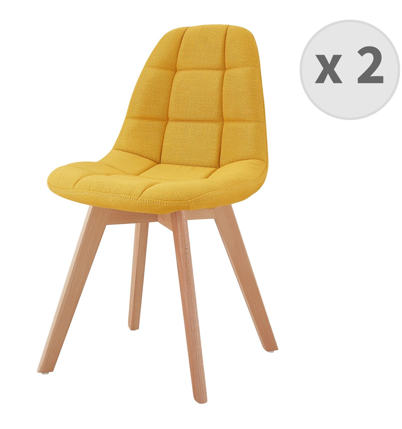 chaise scandinave jaune moutarde stella
