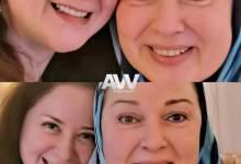 """صورة مي نور الشريف تحتفل بعيد ميلاد خالتها الفنانة المعتزلة """"نورا"""" """""""