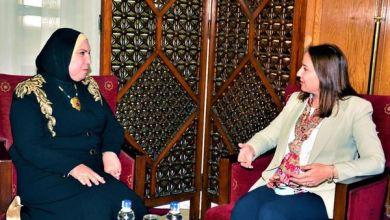 صورة وزيرة التجارة والصناعة تبحث مع وزيري التجارة والاقتصاد الأردني والفلسطينى سبل تعزيز التعاون الاقتصادي