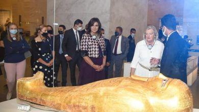 صورة وزيرة الهجرة ونظيرتها الهولندية تجريان زيارة إلى متحف الحضارة المصرية بالفسطاط