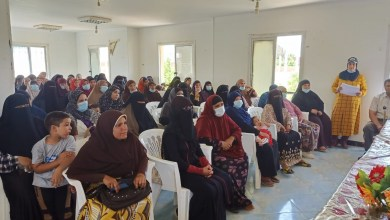 """صورة في إطار مبادرة """"حياة كريمة """" ندوات لتنمية مهارات وتأهيل السيدات الريفيات"""