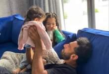 صورة محمد صلاح و بناته مكة و كيان