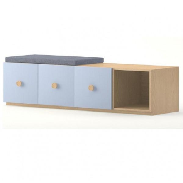 3 portes et 1 casier meubles rangement