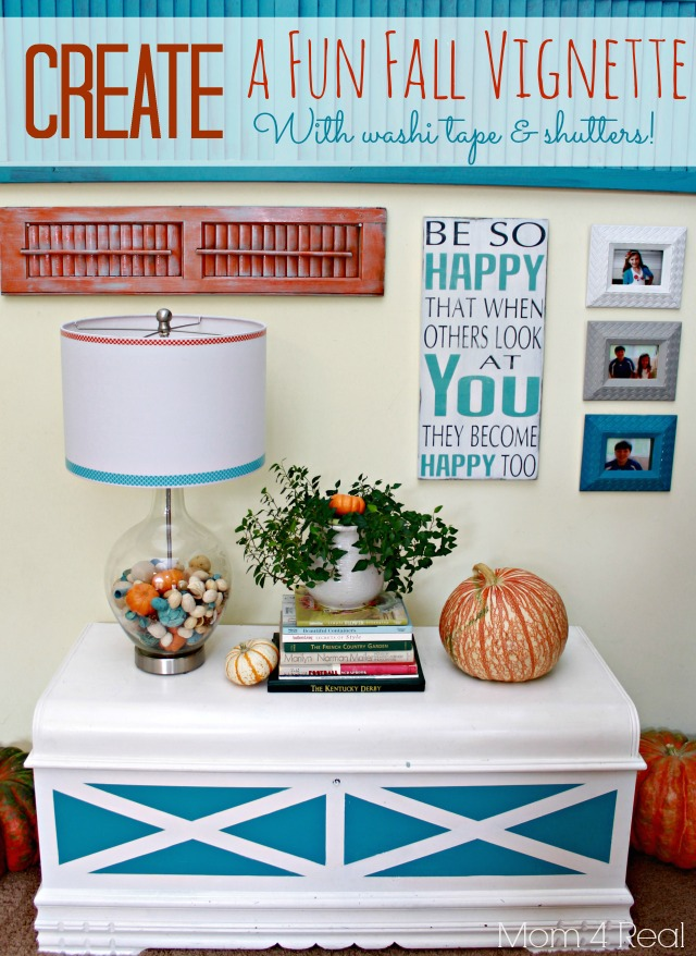 Create a Fun Fall Vignette with washi tape and shutters - Copy