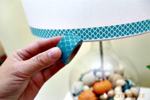 Washi Taped Lamp Shade