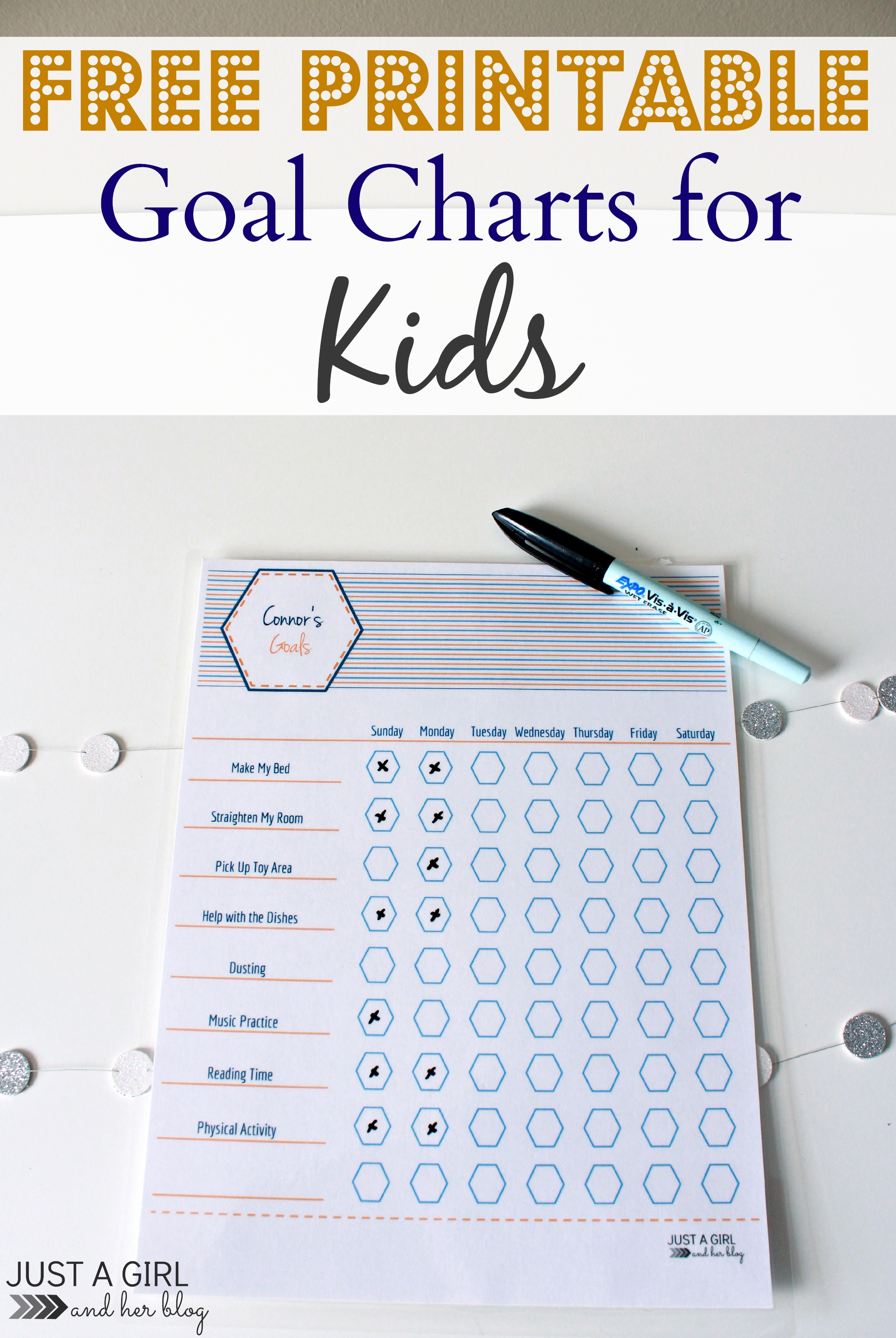 Free Printable Goal Charts For Kids