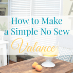 Easy No Sew Valance 4 More No Sew Projects Mom 4 Real