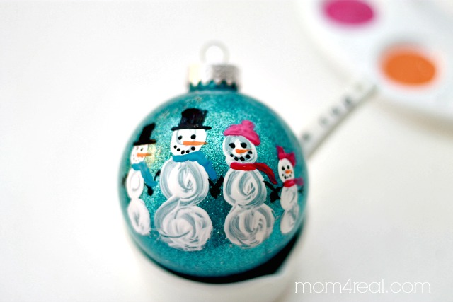 DIY Painted Snowman Family Christmas Ornament Mom 4 Real