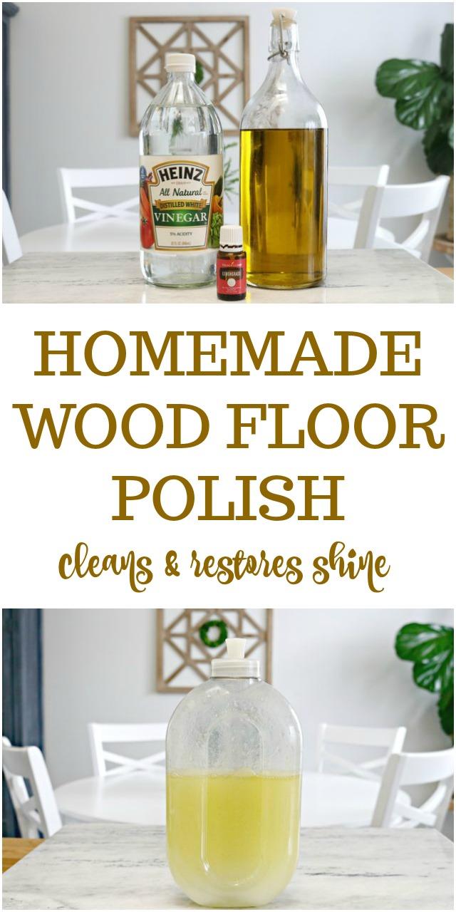 3 ingredient homemade wood floor polish