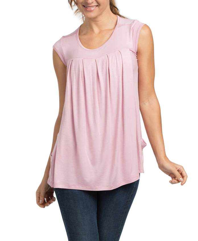 sammy pleated lounge tee maternity and nursing T-shirt