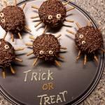 griezelige halloween hapjes spinnen