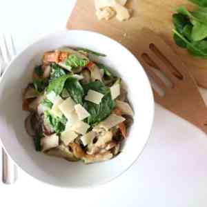 Groene Maandag Recept: Boekweit-lijnzaadpenne en spinazie