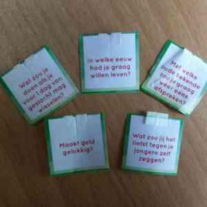 Vijf levensvragen…..van een theezakje!