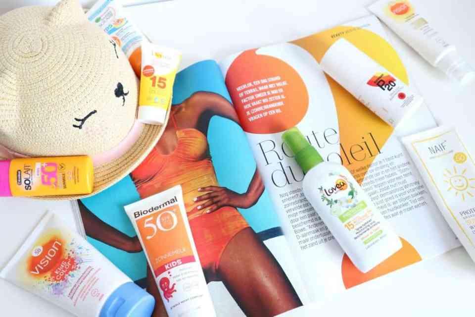 Draag je zonnebrandcrème onder of over je dagcrème? De beste zonnebrandcreme voor kinderen 2018 Momambition.nl vision kidscolor