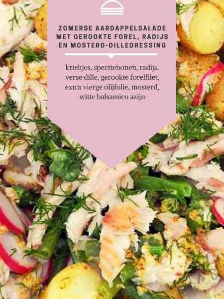 RECEPT | Zomerse aardappelsalade met gerookte forel