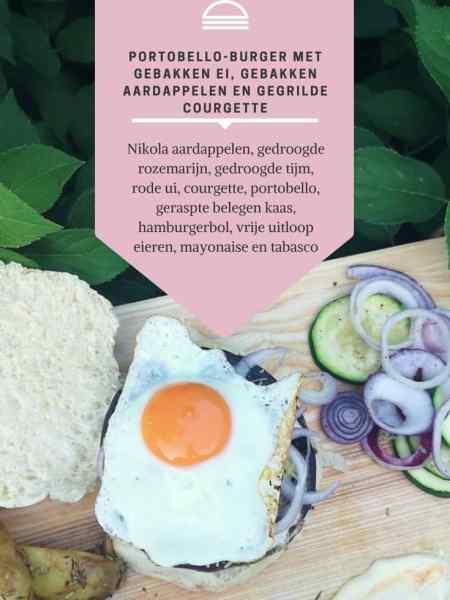 RECEPT | Portobello-burger met gebakken ei