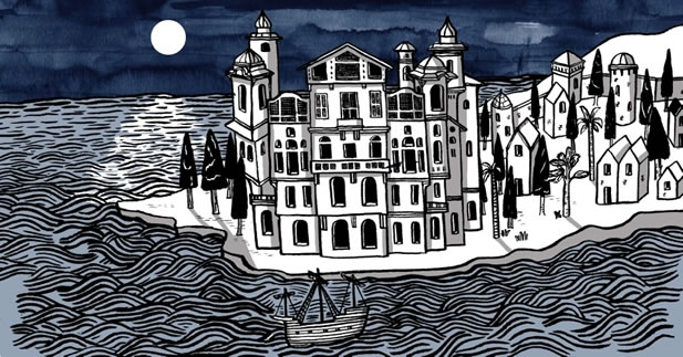 Isabel Museum by Moonlight