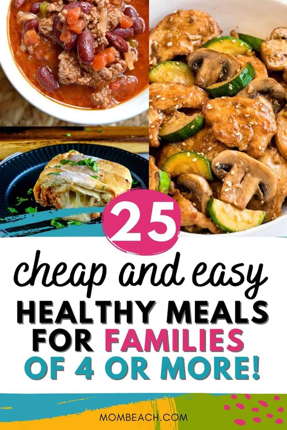 Estas 25 comidas saludables fáciles y económicas para familias son excelentes para estar dentro del presupuesto. Reduzca su presupuesto de comestibles y comience a comer limpio con estas cenas. Es muy fácil comer sano y fresco, en lugar de comer fuera. #cheapeasyhealthymeals #familycheapmeals #budgetmeals #cheapeasymeals #cheapeasyrecipes #cleaneating #healthyrecipes