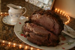 The roast beast, I mean beef, at our Christmas dinner this year.
